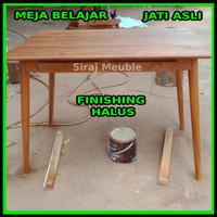 meja belajar , meja kerja, meja kantor kayu jati perhutani indonesia