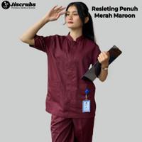 Seragam Bidan Resleting Seragam Perawat Seragam Dokter Baju Oka