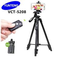 Tripod Yunteng Bluetooth VCT 5208 Standing Hp dan Camera Original