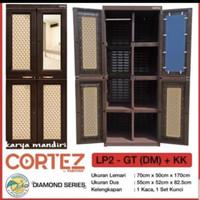Lemari plastik Cortez 2 pintu gantung