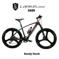 Lankeleisi S600 Sepeda Gunung Elektrik Smart Moped 250W 36V 6.8AH - Black Red