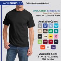 Kaos Polos Oblong Hitam Premium Cotton 24s Bukan Gildan / Combed