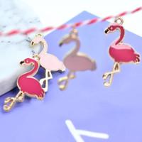 Enamel Charm Bandul Flamingo Untuk Anting Gelang Kalung DIY