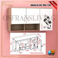 Kitchen Set Atas 3 Pintu Lemari Dinding Rak Dapur Dahlia KC WU 120