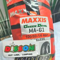 Ban Motor Maxxis Green Devil MA-G1 100/80-14 Tubeless