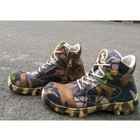 Sepatu Pria Walkers Camo Pendek 6Inci Low Boots Zipper Safety Hiking