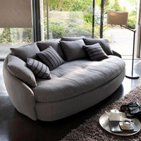 Sofa santai besar full bantalan sofa bed bundar