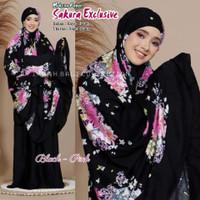 Mukena Bali Sakura Exclusive - Black Pink