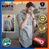 Koko Kurta Hoodie Baju Qurta Pakistan Hodie Premium Bahan Katun Toyobo