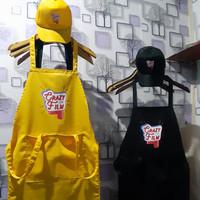 apron custom / apron masak / celemek+topi custom