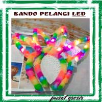 Bando Kelinci Led / Bando kelinci Lampu /Bando Pelangi Nyala