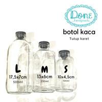 Botol kaca lokal botol kaca murah wadah craft - S