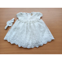 Dress anak perempuan import putih pink gaun pesta bayi