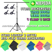 Stand Background Green Screen / Backdrop Stand 2m Foto Studio