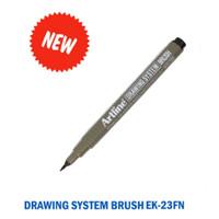 ARTLINE Drawing Pen Brush Marker EK-23FN - Hitam