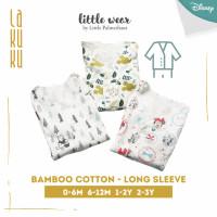 Setelan Baju Piyama lengan panjang anak Bayi Little Wear Button Long