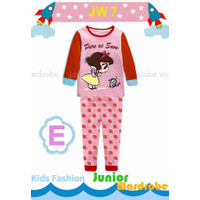 piyama baju tidur import anak lucu princess snow white