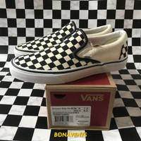 Sepatu Vans Slip-On Classic Checkerboard Global Original