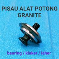 Mata pisau potong granit kramik meja roda bearing dorong manual