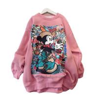 Sweater Oversize mickey Glamor Wanita Fleece
