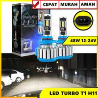 TURBO LED T1 LAMPU LED FOGLAMP TURBO T1 H11 50W SUPER BRIGHT 12 TO 24V