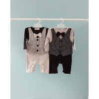 Baju pesta anak balita / bayi jumper tuxedo