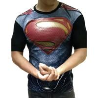 MURAH ! Baju kaos cowok superhero superman fashion pria cowo