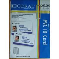 CORAL Kertas PVC Bahan ID Card Instan A4 isi 5 Lembar
