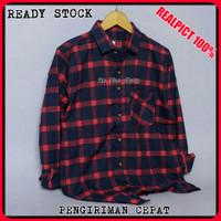 Kemeja Flanel Pria Kotak Lengan Panjang Premium Baju Flannel Planel