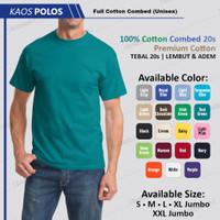Kaos Polos Pria Lengan Pendek Hijau Tosca Cotton 24s Berkualitas