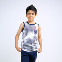 CELCIUS Kids - Thirt Stripe Print Sleeveless A07016K Putih