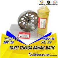 PAKET ANTI GEREDEG MANGKOK KOPLING VARIO 110 125 150 PCX ADV STAGE 1