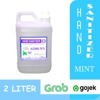 Hand Sanitizer / HANDSANITIZER MENTHOL cair/spray 2 liter alkohol 70%