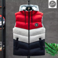 rompi hoodie pria / rompi tebal / vest mayer bgsr / rompi motor - Merah, M