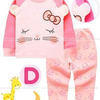 Baju Tidur Hello Kitty Anak size 1-8tahun