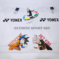 kaos yonex dragon ball putih