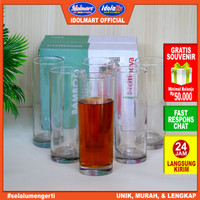 IDOLMART Citinova Gelas Bambo isi 6PCS / Gelas set isi 6 gelas tinggi