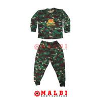 Setelan Anak Loreng Baju Celana Panjang NKRI Infanteri Baret - M