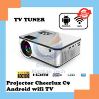 LED Projector CHEERLUX C9 Android WiFi TV Tuner 2800 Lumens 1080P