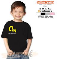 baju/kaos anak bahan cotton combed logo satria baja hitam rx