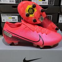 sepatu bola nike vapor13 elite laser Crimson anticlog / sepatu bola