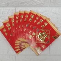 Amplop angpao hongbao isi 10 fu fuk hokky ulang tahun imlek netral