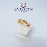 0,5gr Cincin Model Bangkok Batik Emas Asli KodeO1050820