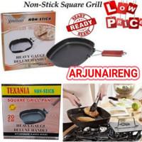 SQUARE GRILL PAN LIPAT COOKWARE/PANCI PANGANGAN BAKAR DAGING/SOUSIS