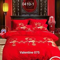 SPREI + BAD COVER LOVE MERAH WEDDING KATUN JEPANG IMPORT 180X200X55