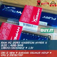 RAM KINGSTON HYPERX FURY DDR3 12800/16000 MHz 4GB/ 8GB