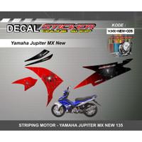 STIKER MOTOR YAMAHA JUPITER MX NEW 135 DECAL STRIPING VARIASI RACING - Y.MX-NEW-005