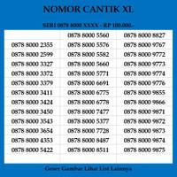 Nomor Cantik XL 4G LTE Kartu Perdana Nomer