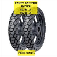 Paket ban tubles FDR FREE PENTIL ban matic HOVER 80/90-14 + 90/90-14