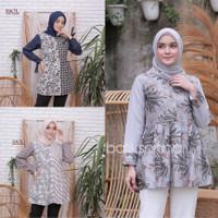 Blouse Batik Kombinasi / Atasan Batik Wanita Modern